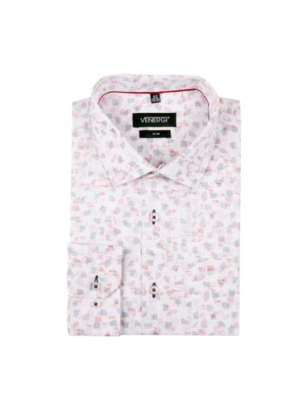 biela vzorovana pánska košeľa