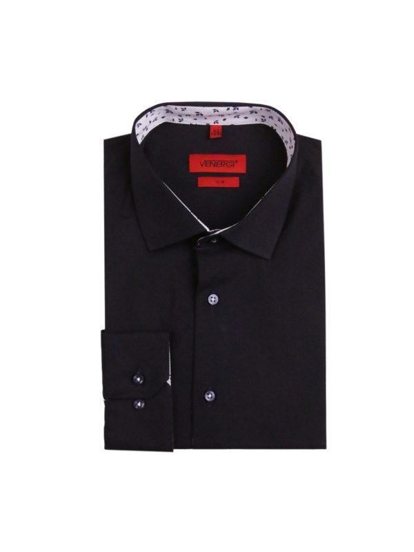 čierna pánska košeľa