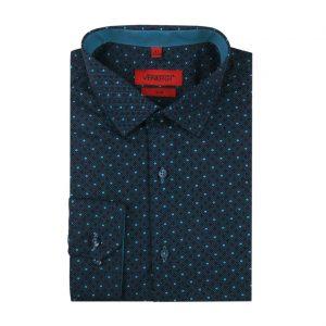 Čierna vzorovaná pánska košeľa