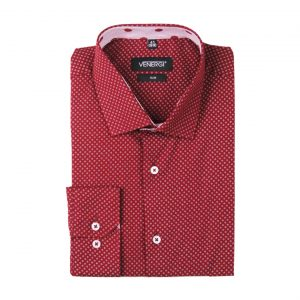jednofarebná vzorovaná pánska košeľa