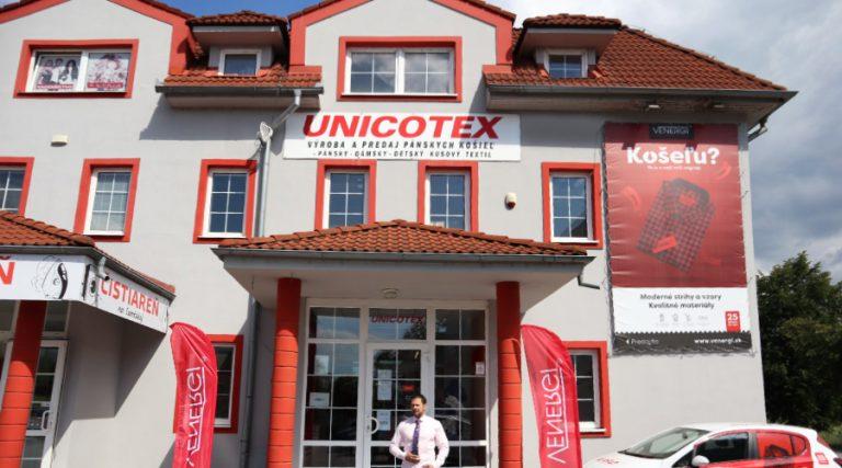 Predajňa Unicotex v Prešove