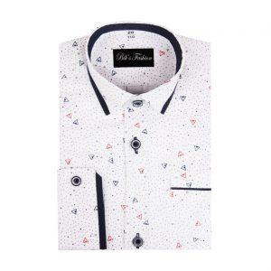 Biela detská košeľa so vzorom