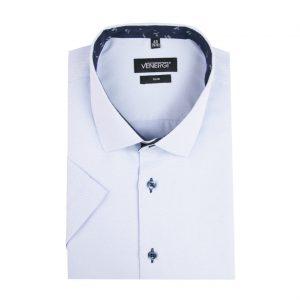 Svetlomodrá pánska košeľa s krátkym rukávom