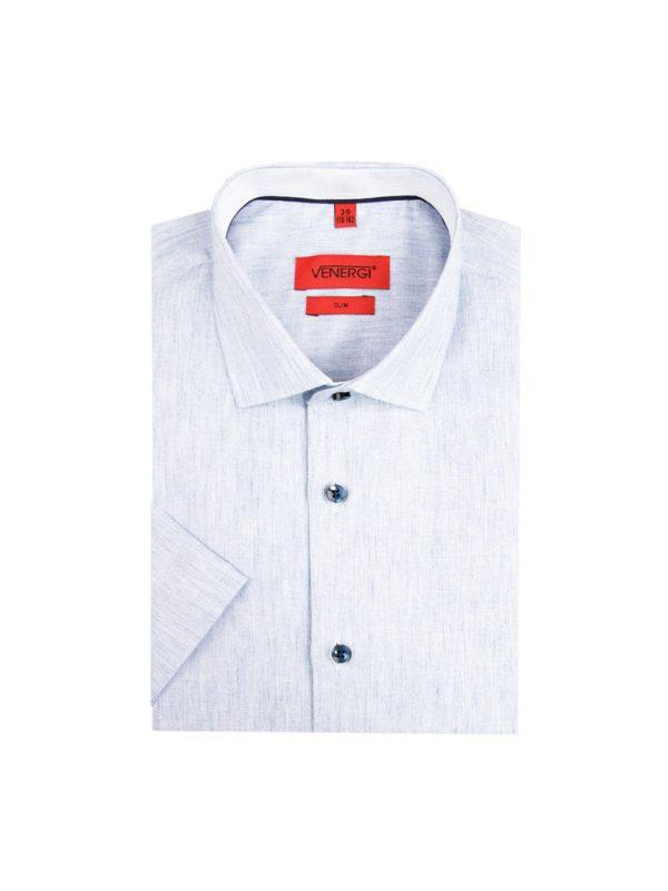 Svetlá pánska košeľa s krátkym rukávom