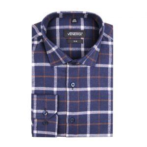 Flanelová pánska košeľa na každodenné nosenie.