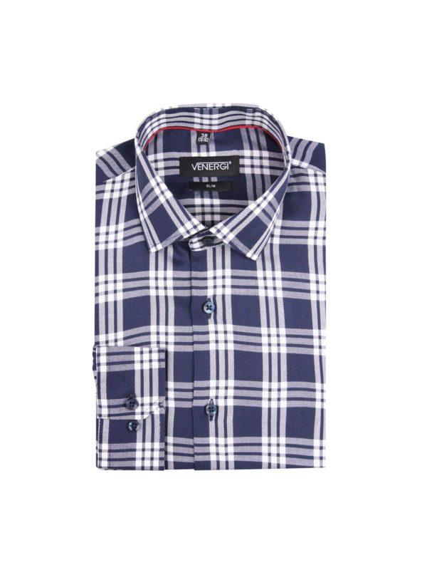 Bielomodrá flanelová pánska košeľa