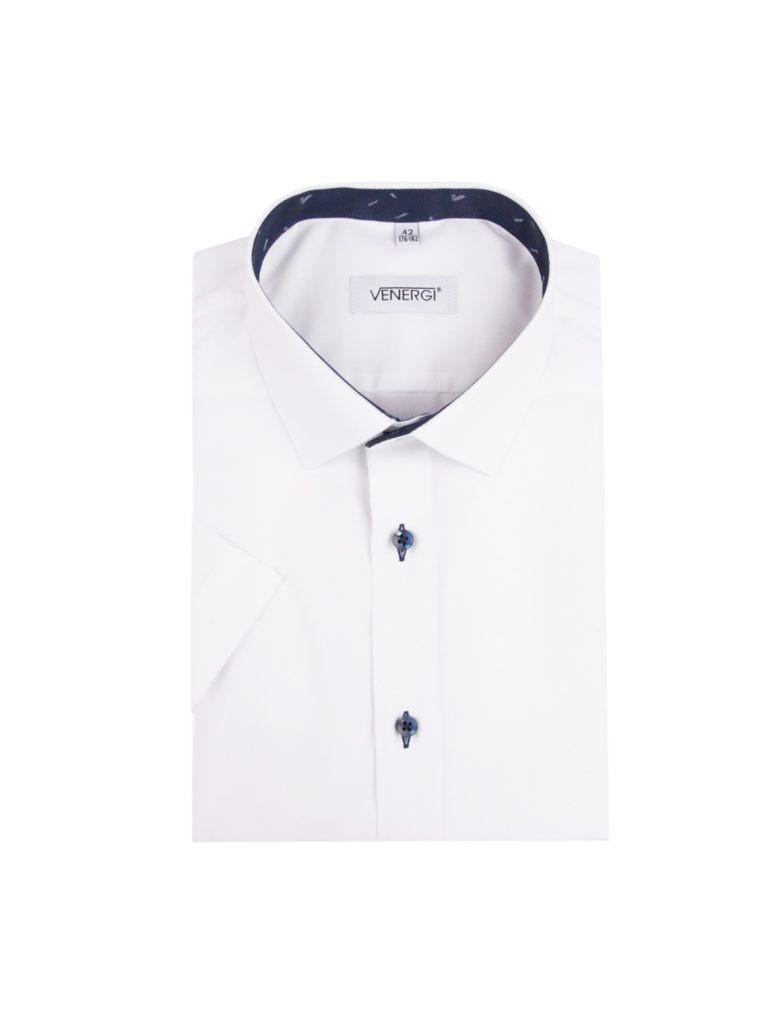 Biela pánska košeľa s krátkym rukávom