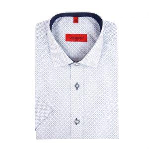 Svetlomodrá vzorovaná pánska košeľa s krátkym rukávom
