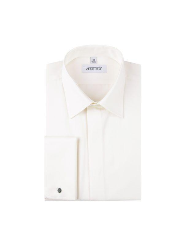 Ivory pánska košeľa s prekrytými gombíkmi